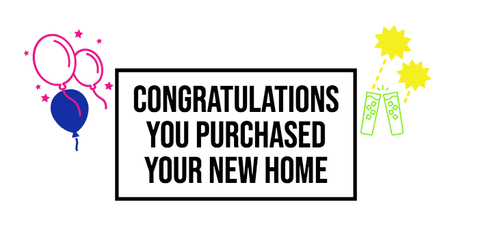 Congratulations buying a home in miami